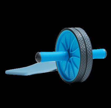 Specifit Double Ab Roller - Ab Wheel - Dubbel trainingswiel - Buikspierwiel - Buikspiertrainer inclusief Kniemat