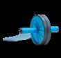 Double Ab Roller - Ab Wheel - Dubbel trainingswiel - Buikspierwiel - Buikspiertrainer inclusief Kniemat