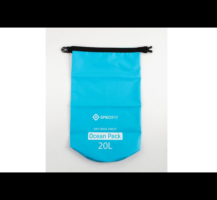Specifit Ocean Pack 20 Liter - Drybag - Waterdichte Tas - Droogtas Blauw