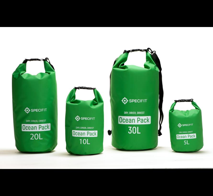 Specifit Ocean Pack 10 Liter - Drybag - Waterdichte Tas - Droogtas Groen