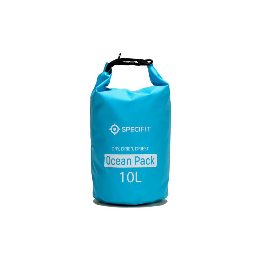 Specifit Ocean Pack 10 Liter - Drybag - Waterdichte Tas - Droogtas Blauw