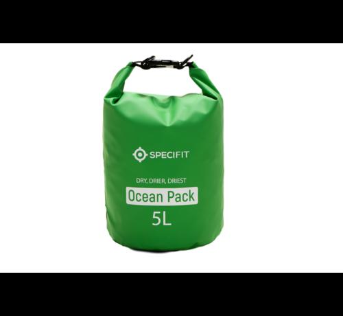 Specifit Specifit Ocean Pack 5 Liter - Drybag - Waterdichte Tas - Droogtas Groen