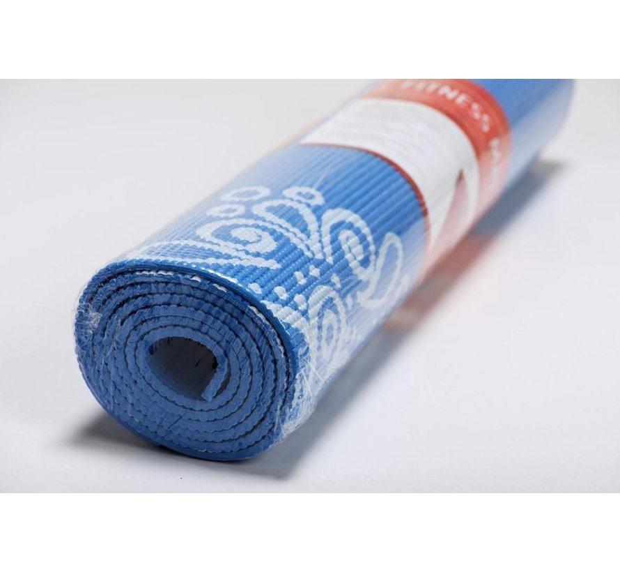 Specifit Yogamat Marrakech Blauw - Fitnessmat 170 x 60 cm met Opdruk