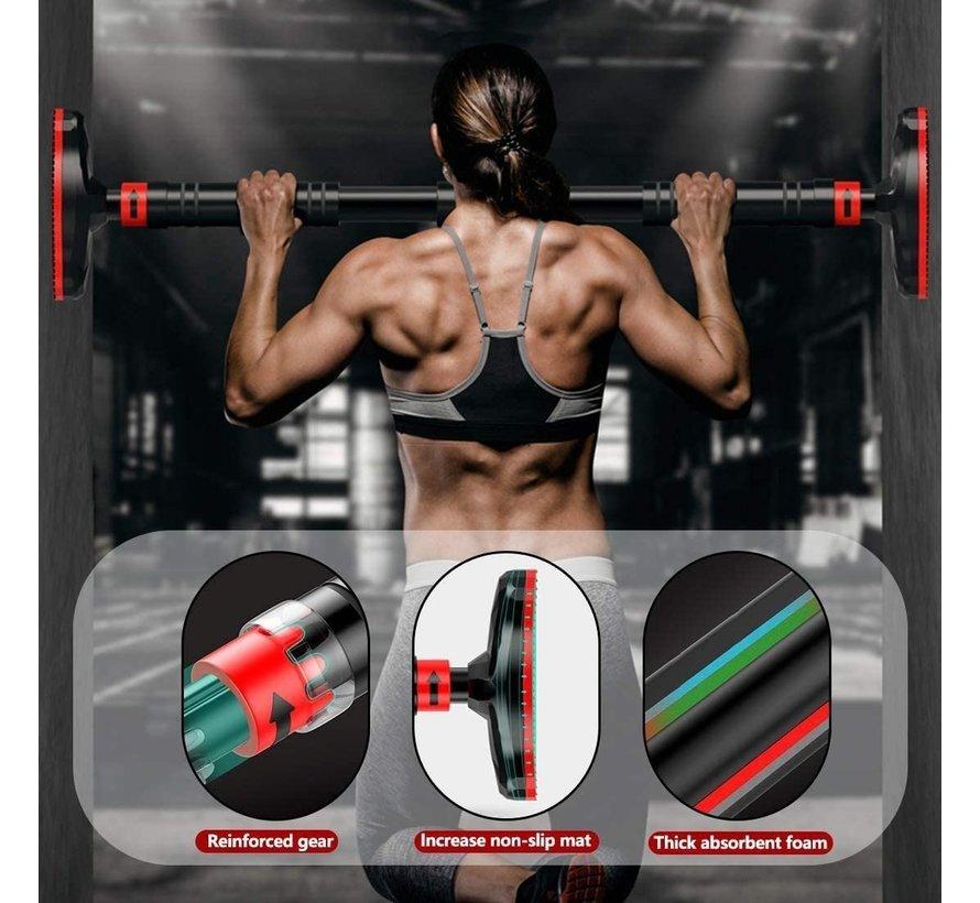 Pull Up Bar - Optrekstang Fitness - In deurpost zonder schroeven - Max 200kg - Met gear-lock systeem