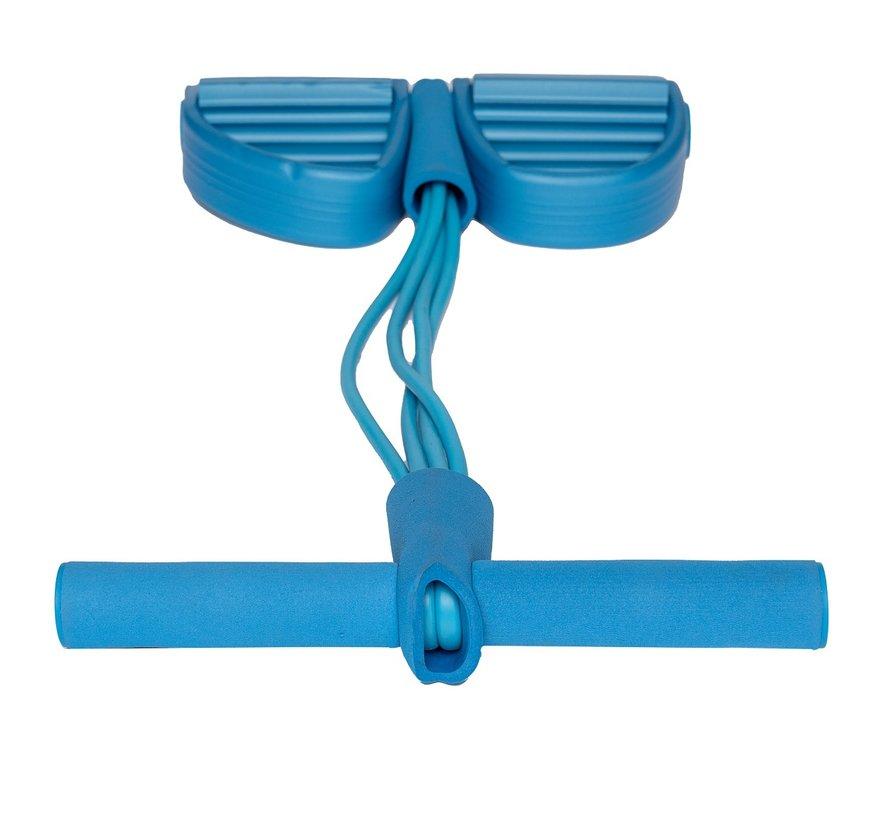 Elastische Buikspiertrainer - Elastiek met Handvat en Pedaal