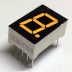 "7 Segment display Amber, 0.56"" CA"