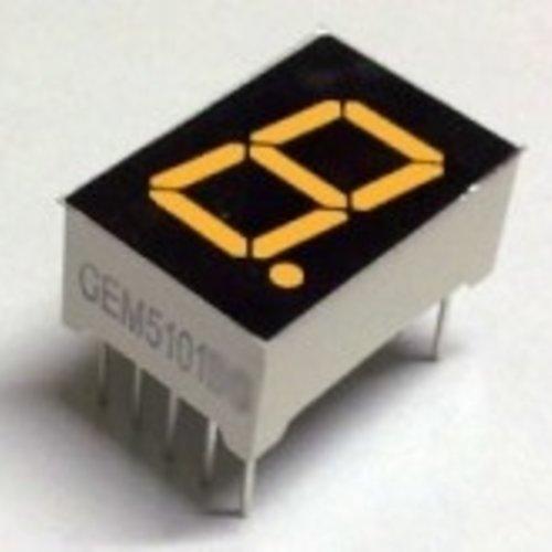 "7 Segment display Amber, 0.56"" Common Anode"