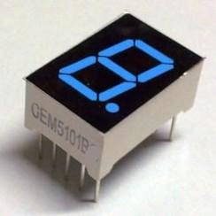 "7 Segment Display Blauw, 0.56"" CA."