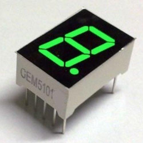 "7 Segment Display Groen, 0.56"" Common Cathode"