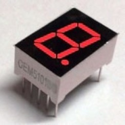 "7 Segment Display Rood, 0.56"" CC"