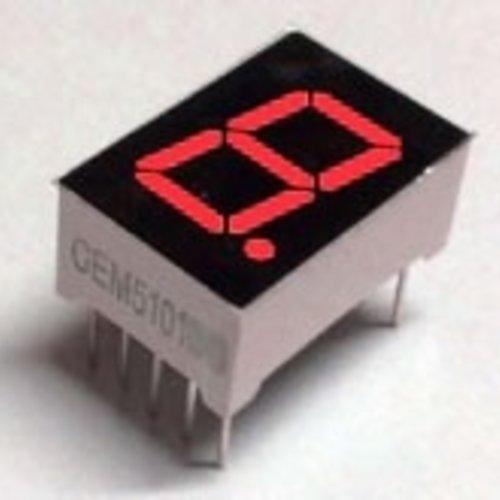 """7 Segment Display Rood, 0.56"""" Common Cathode"""