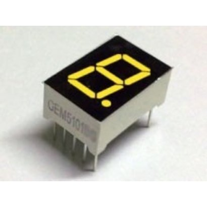 "7 Segment Display Geel, 0.56"" Common Cathode"