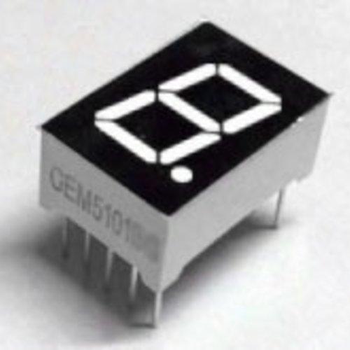"""7 Segment Display Wit, 0.56"""" Common Cathode"""