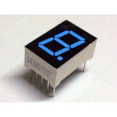 """7 Segment Display Blauw, 0.56"""" Common Cathode"""