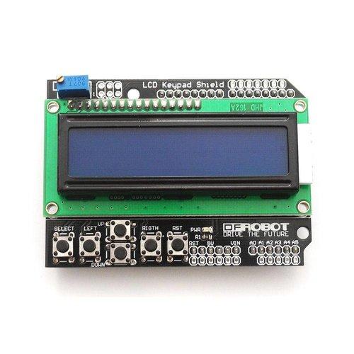 LCD Shield 2 x 16 Karakters wit op blauw