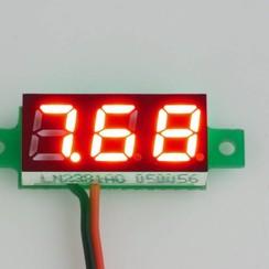 """Mini Voltmeter Rood 0.28"""""""
