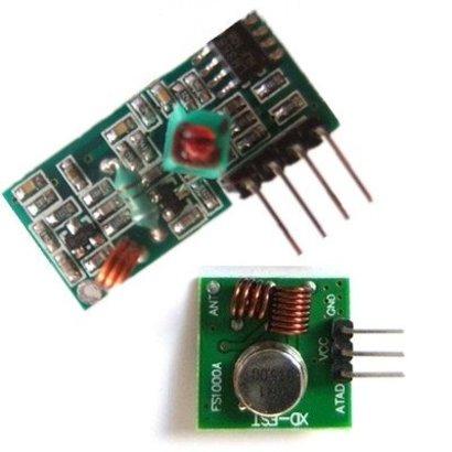 433,92Mhz RF Zender en ontvanger set, geschikt voor arduino en zelfbouw