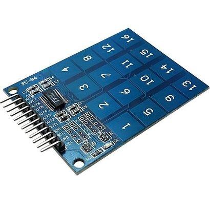 Touch Sensor 16 Voudig, Relatief klein Formaat