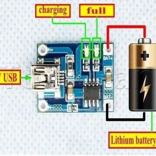 Li-Ion, LiPo, USB Lader Module, 1000mA