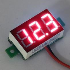 """Mini Voltmeter Rood 0.36"""""""