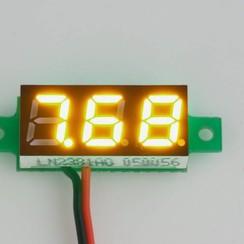 """Mini Voltmeter Geel 0.28"""""""