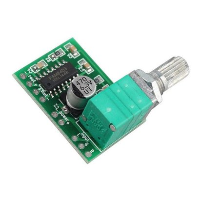 Mini Versterker 2 x 3 Watt PAM8403 met Stereo Potmeter
