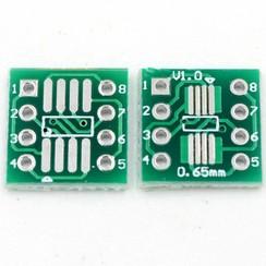 SMT Breakout PCB voor SOIC-8 of TSSOP-8