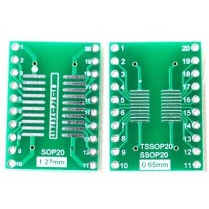 SMT Breakout PCB voor SOIC-20 of TSSOP-20