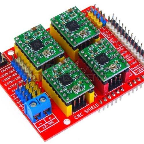 CNC Shield, met Stepper Drivers, Inclusief Arduino Uno