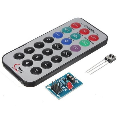 HX1838 NEC Arduino Infrarood afstandsbediening. Inclusief Assesoires