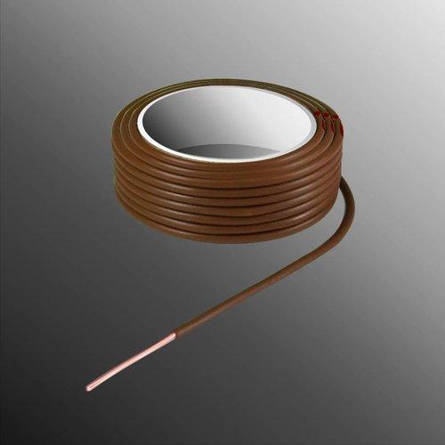 Project Draad H05V-U 2,5 x 0,5mm², Massieve Kern, Brand Vertragend - Bruin