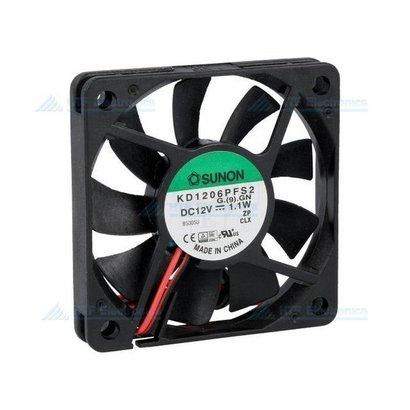 Borstelloze Ventilator 60x60x10mm 12V DC