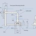 Licht geleider voor SMD LED's