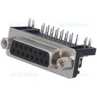 D-SUB Print Connector Female 15 Pin