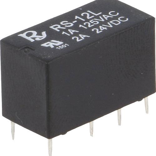 Relais 12V DC DPDT 1A Miniatuur, Rayex