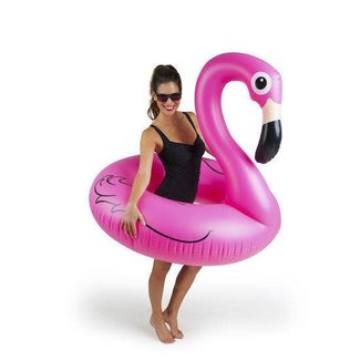Big Mouth Giant Pink Flamingo Pool Float