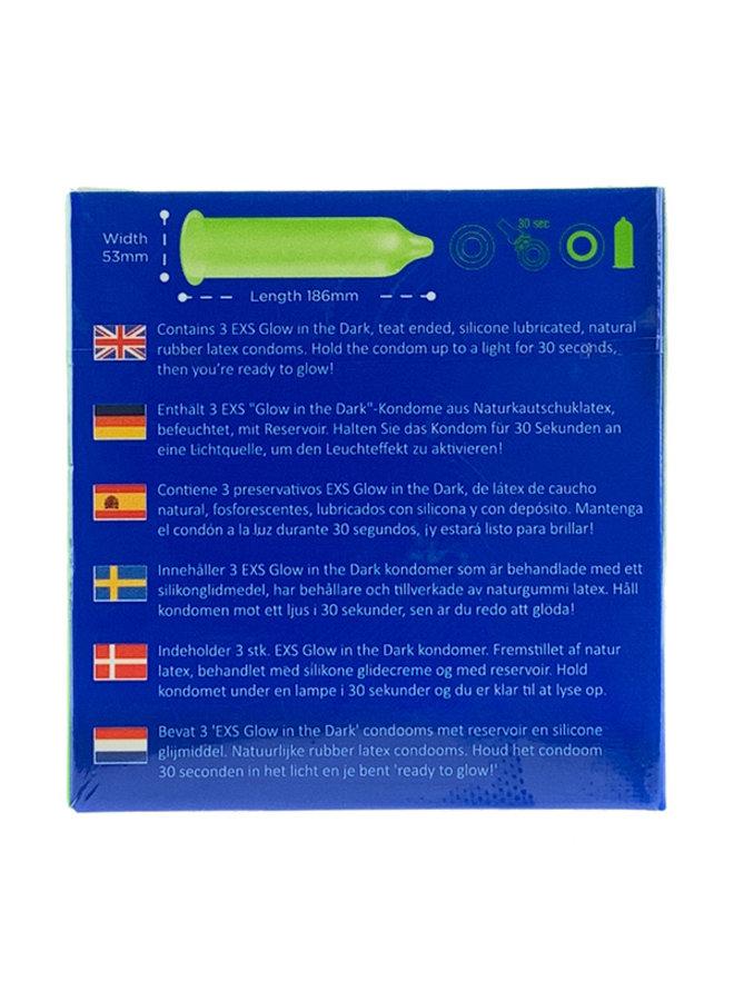 EXS Glow In The Dark Condoms