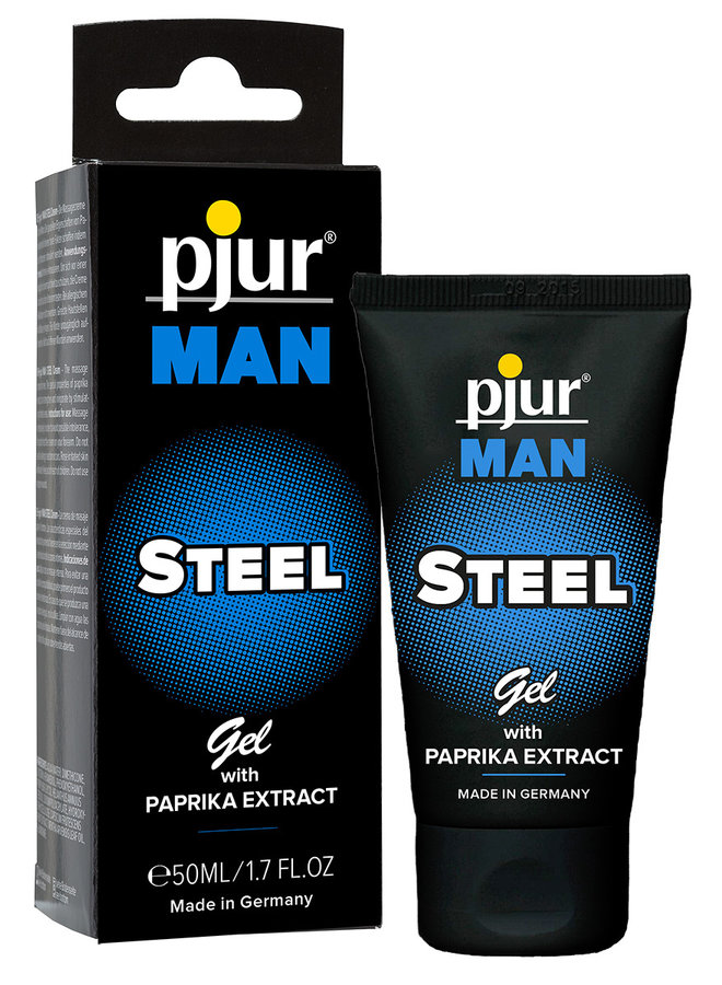 pjur MAN STEEL Peniscrème met Paprika en Menthol