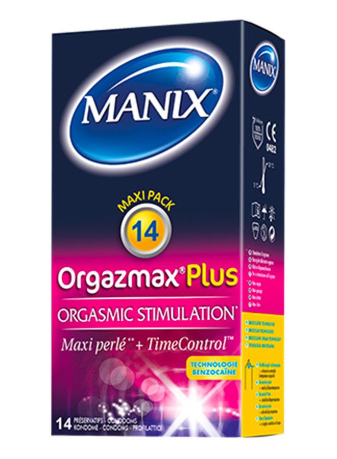 Manix Orgazmax Plus Vertragende Condooms met Noppen