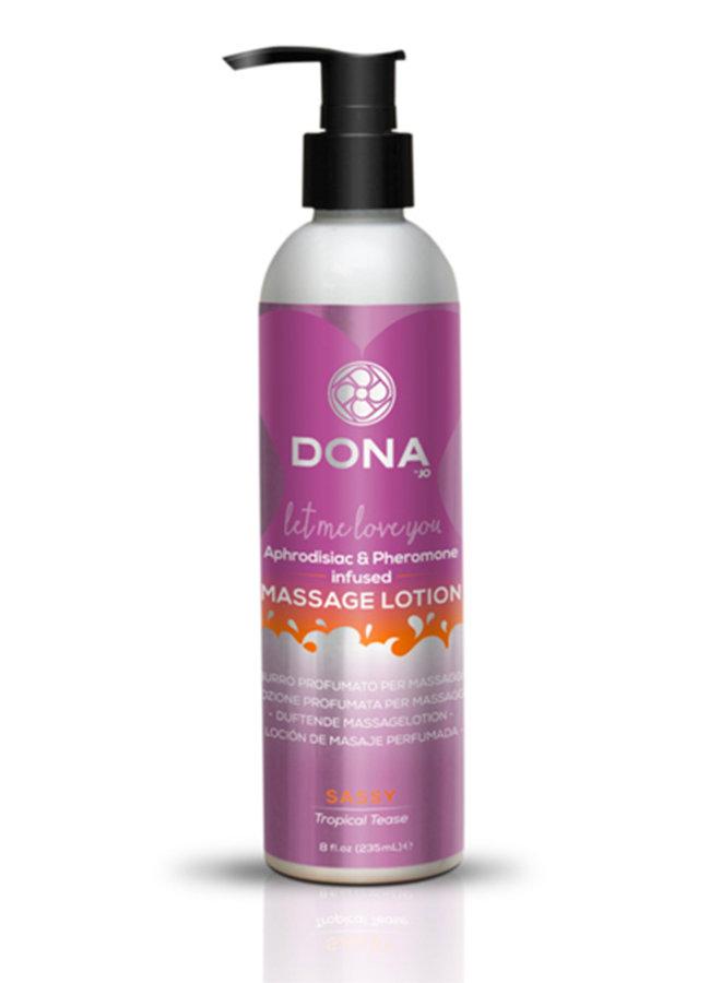 Dona Lotion de Massage Parfumée Fruits Exotiques