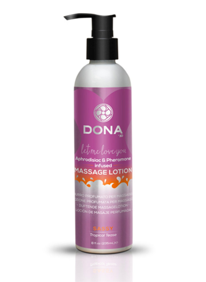 Dona Scented Massage Lotion Sassy Tropical Tease