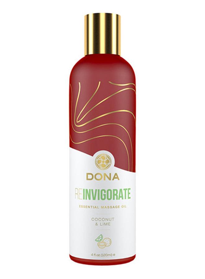 Dona Essential Massageolie Reinvigorate Kokosnoot & Lime