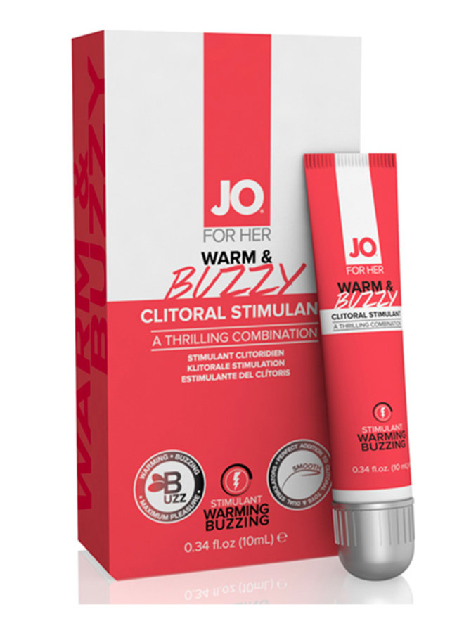 JO Warm & Buzzy Stimulant Clitoridien Chauffant