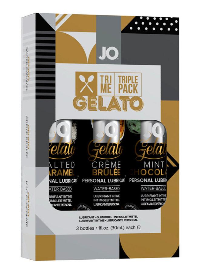 JO Tri-Me Gelato Proefpakket Glijmiddel met Gelato Smaak