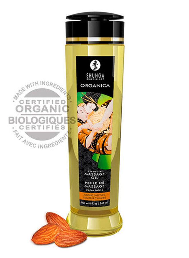 Organica Kusbare Bio Massageolie Zoete Amandel
