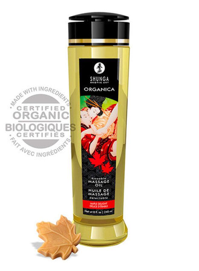 Huile de Massage Délectable Organica Bio Délice d'Érable