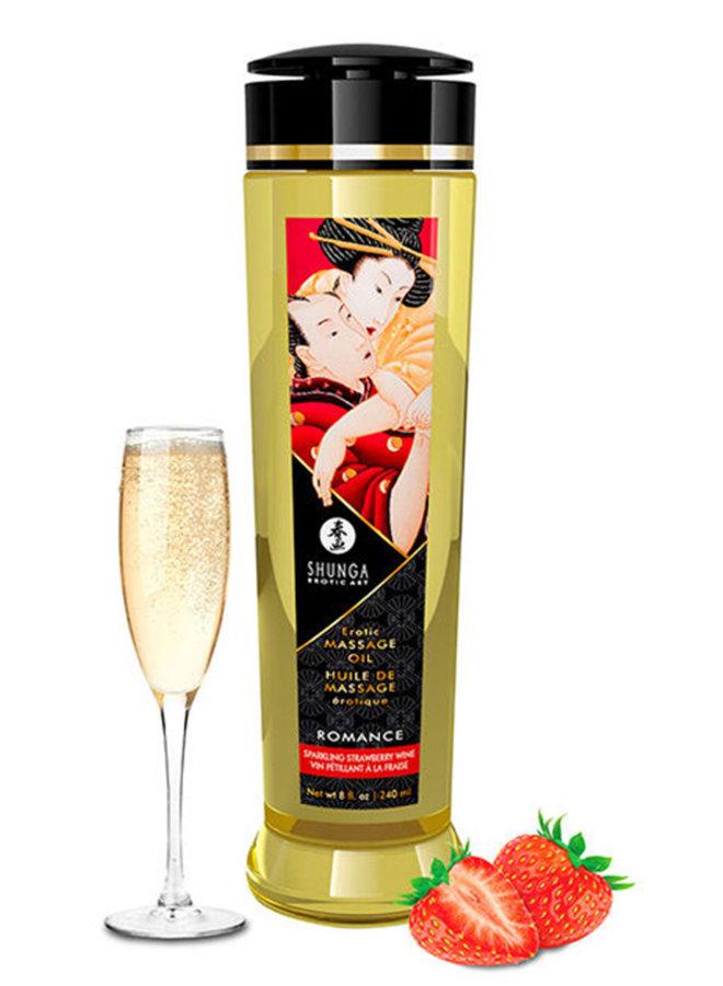 Massageolie Aardbeien en Champagne