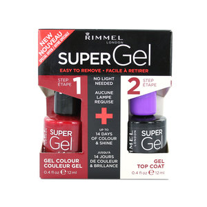 Super Gel Duo Nagellak - 042 Rock N Roll + Topcoat
