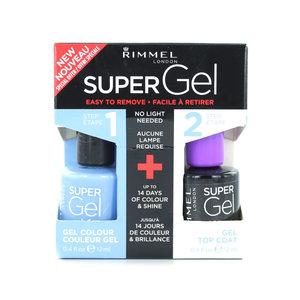 Super Gel Duo Nagellak - 052 Blue Babe + Topcoat