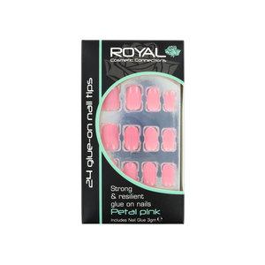 24 Glue-On Nail Tips - Petal Pink (met nagellijm)